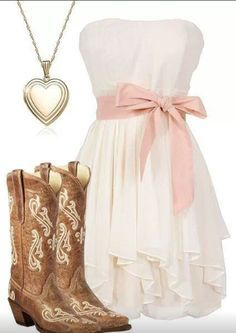 You can find really nice outfits for any occasion. For example, pants, t-shirts or pretty dresses. Women may sometimes want to look pretty or sometimes they may Country Girl Outfits, Country Style Wedding Dresses, Country Fashion, Country Girls, Cowgirl Outfits For Women Dresses, Cute Country Dresses, Teen Fashion Blog, Look Fashion, Girl Fashion