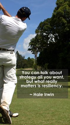 You can talk about strategy all you want, but what really matters is resiliency. #lorisgolfshoppe