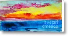 Expressive Sunrise Seascape Watercolor Painting C2 Canvas Print / Canvas Art By Ricardos Creations