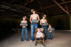 My friend Amy Earle captured this image PERFECTLY! My little studs surrounding their sweet baby sister..