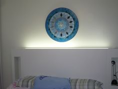 Mandala Azul com Divino Espírito Santo-feita por Marta Falcão