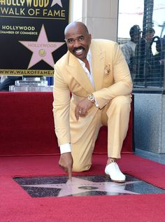 Steve Harvey, whose talk show is guaranteed a home on syndicated TV until at least 2016, last month received a star on the Hollywood Walk of Fame. Description from accessatlanta.com. I searched for this on bing.com/images