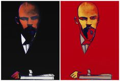 Andy Warhol's portrait of the Russian political leader, Vladimir Lenin, diverges from many of the conventions that seem to define Warhol's oeuvre. he lack of extraneous detail and color deters the viewer from focusing on anything else other than the face of the communist maverick who is one of the most notable political figures of the 20th century.