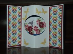 Stampin Up, Blooming Marvelous, Sycamore Street, Tunnel Card