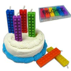 Lego Party Candles @Angela Germain, thank you!!! Those are adorable!