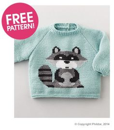Phildar Raccoon Jumper Pattern | Deramores,  shartime limited.