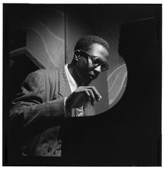The Library of Congress   [Portrait of Thelonious Monk, Minton's Playhouse, New York, N.Y., ca. Sept. 1947] (LOC)    Gottlieb, William P., 1917-, photographer.