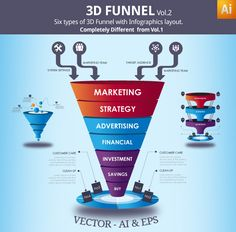 vector sales funnel template illustrations with infographics layout for your marketing presentation in any field. Infographic Template for data visualization of your business or marketing, be it on your website or brochure or magazine. Sales And Marketing, Business Marketing, Online Marketing, Digital Marketing, Marketing Presentation, Business Presentation, Web Design, Modern Design, Quantitative Research