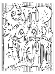 Graffiti Art Coloring Book (Dover Coloring Books): Jeremy Elder: 9780486804576: Amazon.com: Books Star Coloring Pages, Valentine Coloring Pages, Printable Adult Coloring Pages, Coloring Pages To Print, Coloring Books, Mandala Coloring, Graffiti Art, Free Printable, Skull