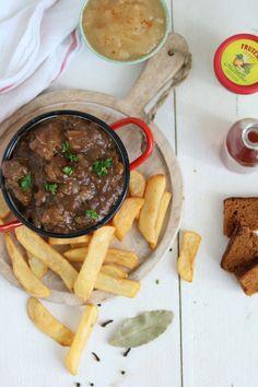Zelf zuurvlees maken - Lekker eten met Linda Lamb, Crockpot, Pork, Beef, Snacks, Ethnic Recipes, Gluten, Drinks, Recipies
