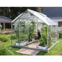 GreenhousesVitavia Merkur 8300 greenhouse x x m, color: aluminum, single-pane safety glass (Base Duty eco Full Garden Greenhouse Base Duty eco Full Garden Greenhouse Pro Shed Base Kit - 9