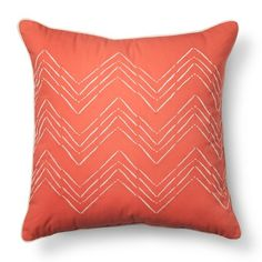Room Essentials™ Embroidered Chevron Toss Pillow - Coral $16.99