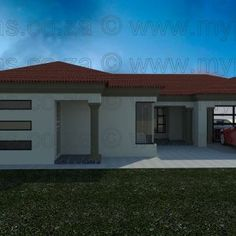 3 Bedroom House Plans My Building Plans South Africa Round House Plans, Square House Plans, Open Floor House Plans, Free House Plans, Modern House Plans, House Floor, Floor Plans, 5 Bedroom House Plans, Porch House Plans