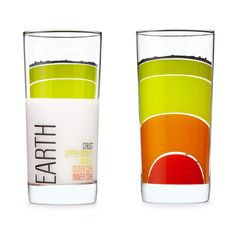 Earth science drinking glasses | cool mom picks