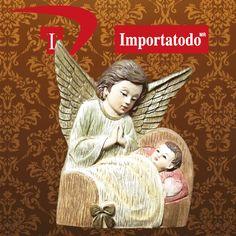 Figura Decorativa Religiosa Ángel de la Guarda elaborada en Poliresina marca TRENTINO. Modelo 45-673N