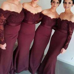 wine bridesmaid dresses - Google Search