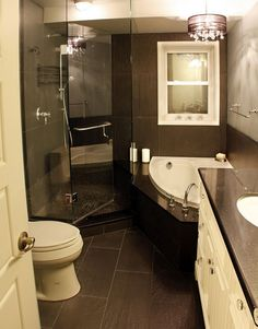Click Pic for 30 Small Bathroom Decorating Ideas - Black and White Sharpness - Small Bathroom Remodel Ideas