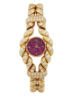HOLY COW! Moubossin 18K Yellow Gold & Diamond Watch, 25mm by Moubossin at Gilt for only $19,500... lol