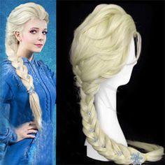 Online Shop 2014 Frozen Snow Wig Elsa Anna Children Wig Long Weaving Braid Cosplay Adult Wig|Aliexpress Mobile