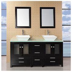 design element aden 61inch double sink bathroom vanity set