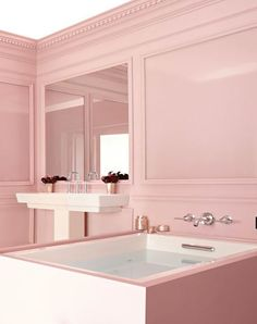 Pink and White Bathroom Roundup