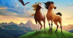 Spirit Stallion of the Cimarron 〖 DreamWorks Spirit Stallion of the Cimarron Rain 〗 Spirit Horse Movie, Spirit The Horse, Spirit And Rain, Dreamworks Movies, Dreamworks Animation, Disney And Dreamworks, Animation Film, Spirit Der Wilde Mustang, Caballo Spirit