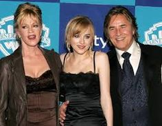 Melanie Griffith and Don Johnson with daughter Dakota (50 Shades)