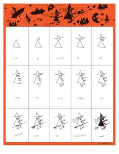 Witch / Bruja desde Ed Emberley's Drawing Pages