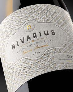 Packaging for Nivarius Wine Bottle Design, Wine Label Design, Drink Labels, Wine Bottle Labels, Wine Brands, Bottle Packaging, In Vino Veritas, Wine And Beer, Packaging Design