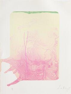"""Helen Frankenthaler lithograph - 1995 """"Reflections XII"""""""