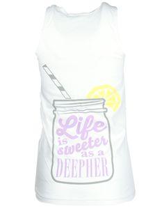Delta Phi Epsilon Life Is Sweeter Tank by Adam Block Design | Custom Greek Apparel & Sorority Clothes | www.adamblockdesign.com