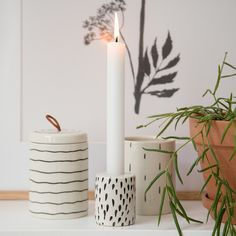 Adding a candle to a still life can make a wonderful difference. Candleholder, price per item from DKK 21,60 / EUR 3,04 / ISK 498 / NOK 32,60 / GBP 2,99 / SEK 30,90 / CHF 3,69 / FO-DKK 25,31