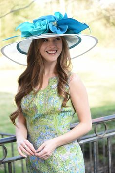Check out some of her designs below for inspiration or view her full line at at camhats.com. Use promo code KYDERBYFEATURED147 for 15% off. Derby Party, Kentucky Derby Hats, Sports Party, May 1, Spring Fashion, What To Wear, Unique, Blue, Inspiration