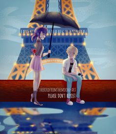 "thebirdfromthemoon-art: "" Happy first Miraculous anniversary everyone! Piece inspired by the work of Britney Lee!"