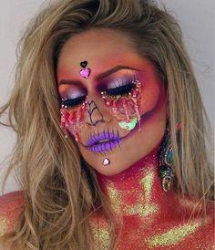 Makeup ideas Halloween – Great Make Up Ideas Makeup Fx, Scary Makeup, Skull Makeup, Makeup Inspo, Makeup Inspiration, Makeup Ideas, Makeup Tools, Makeup Cosmetics, Makeup Brushes
