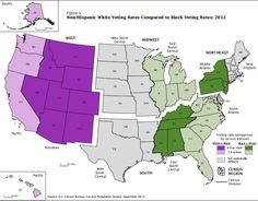 A Map of Voting Rates Across the United States Proves Demise of 'Voter ID Laws are Racist' Myth