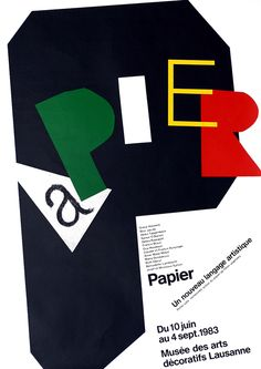 Papier by #Jeker, Werner | Shop original vintage #posters online: www.internationalposter.com