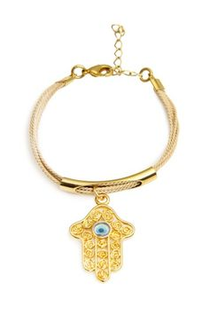 Hamsa Charm Bracelet by Jewelry by Saachi on @HauteLook