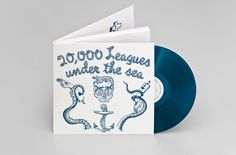 """Jules Verne // Johnny Trunk """"20,000 Leagues under the sea"""", 2016. Four corners books // Trunk records"""