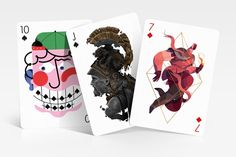 First cards from Edition Three deck from Playing Arts