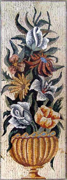Цветы и растения | Серендипити мозаики - мозаики, мозаики, фрески и мозаики таможни