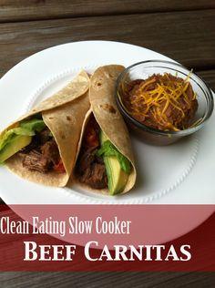 Clean Eating Crockpot Beef Carnitas