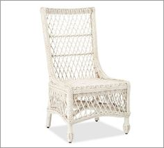 Delaney Woven Rattan Chair in White