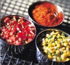 Copycat recipes for Chipotle Mexican Grill (corn salsa, honey-chipotle vinegarette dressing, guacamole) yummy-stuff