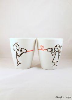 Love Tassen, Becher, sag love durch die Blechdose von Lovely-Cups   auf DaWanda.com