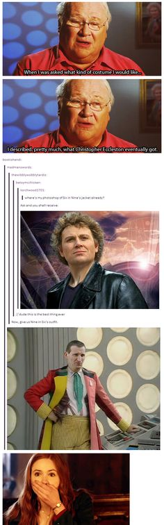 Gods Almighty! Six would have been an entirely different Doctor! And poor 9... *shudder*