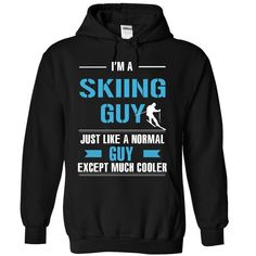 Skiing guy is cooler Check more at http://coolshirts.today/skiing-guy-is-cooler/