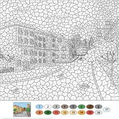 Crafts Printable Old Town Street Color by Number from Color by Number Worksheets category. Select from 25266 printable crafts of cartoons, nature, animals, Bible and many more. Abstract Coloring Pages, Alphabet Coloring Pages, Mandala Coloring Pages, Animal Coloring Pages, Colouring Pages, Free Coloring, Coloring Pages For Kids, Coloring Books, Adult Color By Number