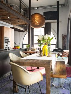 Anthony Carrino's loft in a renovated former telephone switching station. #loft #housetour #hgtvmagazine http://www.hgtv.com/design/decorating/design-101/anthony-carrinos-dream-loft-pictures?soc=pinterest