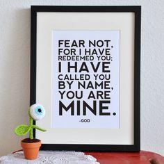 Isaiah 43:1     Tattoo inspiration... Love this verse!